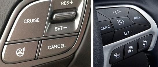 блок кнопок для управления круиз контролем