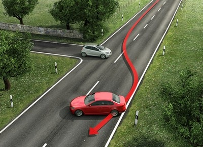 траектория автомобиля без ESP