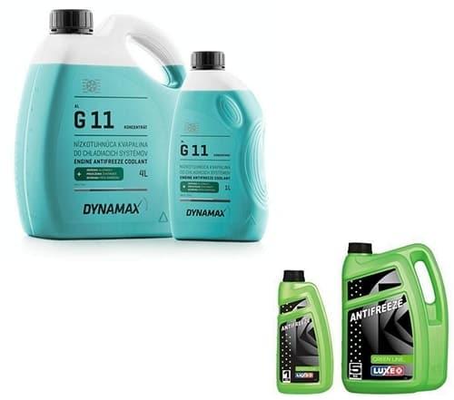 Антифриз G11 - обычно он зеленого цвета