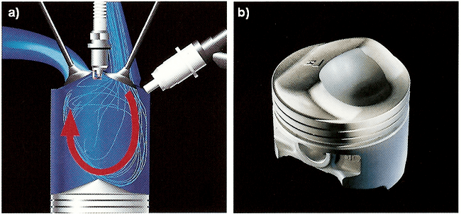 движение воздуха в камере сгорания и форма поршня