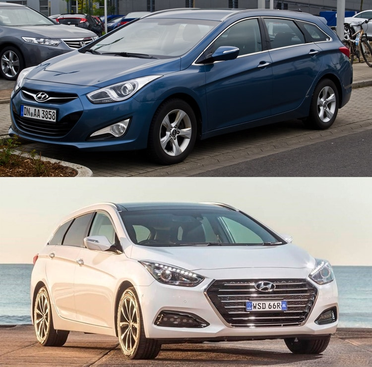Hyundai i40 до и после рестайлинга