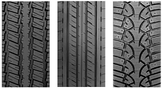 сравнение протектора на разных шинах