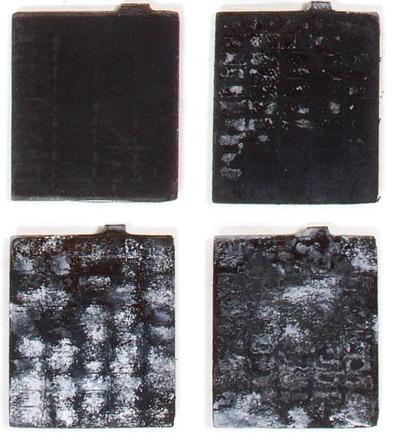 пластины с разной степенью сульфатации